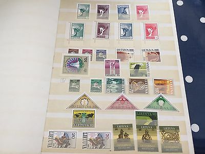 Lithuania & Bohmen & Mahren nhm & mint stamps in stockbook