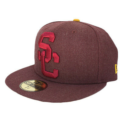 check out dda98 a8276 ... coupon for usc trojans mens new era 59fifty jumbo logo fitted hat  heather cardinal 4e471 6b3cc