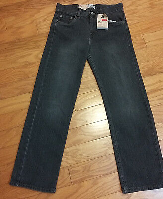 Boys Levi's 550 Jeans - Gray - Size 14 - 27x27 - Great Quality - NWT