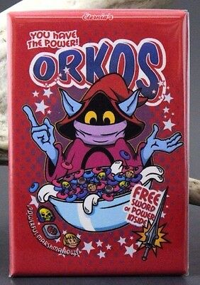 "Orko's Cereal Box 2"" X 3"" Fridge / Locker Magnet. He-Man MOTU"