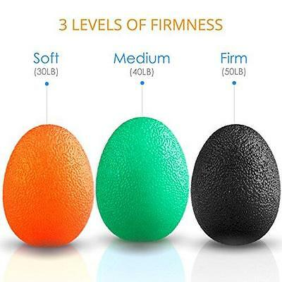 Quality Stress Balls Hand Finger Grip Strengthening Squeeze Resistance Set Of 3