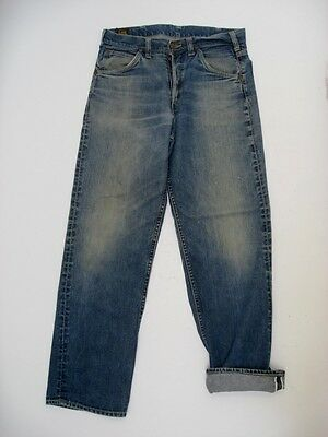 Vintage LEE RIDERS Redline Selvedge Button Fly Jeans USA MADE Size 31.5 X 30