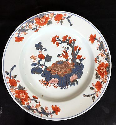 """Chinese Imari 10 1/4"""" Antique 18th Century Plate In Excellent Condition"""