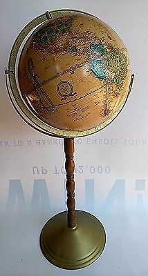 "USA 32"" Vintage 1994 GEORGE CRAM IMPERIAL WORLD GLOBE FLOOR Wood Metal STAND"