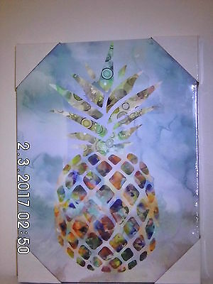 Pineapple wall art print canvas, Fruit summer home decor