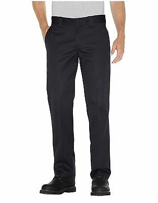 Dickies WP873 Men's Black Slim Fit Straight Leg Work Pant Workwear Uniform