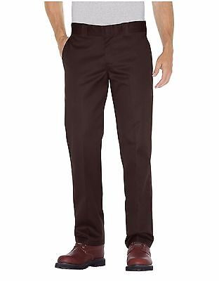 Dickies WP873 Men's Chocolate Brown Slim Fit Straight Leg Work Pant Workwear