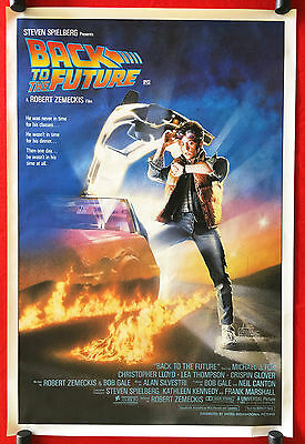 BACK TO THE FUTURE -Rare Original Vintage 1985 Rolled One-Sheet Movie Poster-Fox