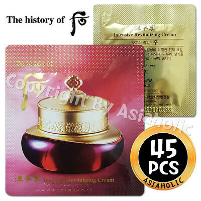 The history of Whoo Intensive Revitalizing Cream 45pcs Jinyul Cream Newist Ver