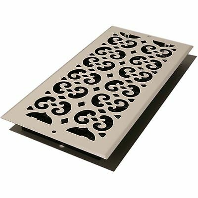 Decor Grates Scroll Wall/Ceiling Register, Painted White, 6' X 14'