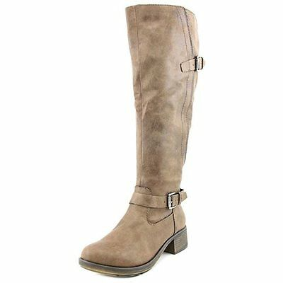 47fe6a87dc37 STYLE   CO Women s Fridaa Round Toe Knee-High Boot (1822) Black Wide ...
