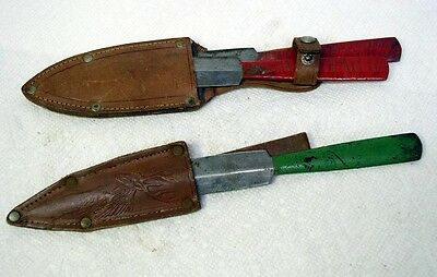 LOT OF THREE (3) VINTAGE 1930's ERA GERMAN DAGGER THROWING KNIFE
