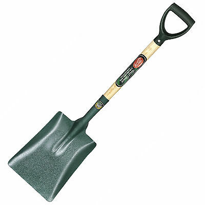 Hvy Duty Square Point Carbon Steel Head Digging Builders Garden Shovel Spade S15
