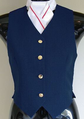 Bella Pony. Childs Show Vest Navy 8