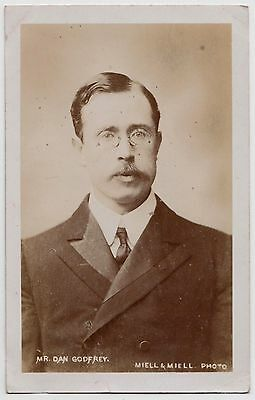 POSTCARD - Dan Godfrey, British music conductor, RP by Miell, Bournemouth 1906