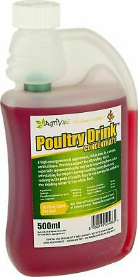 Poultry Drink Concentrate Tonic Vitamins Red Mite Recovery from Agrivite