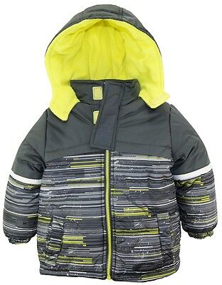 Ixtreme Little Boys Multicolor Square Hooded Winter Puffer Jacket Coat