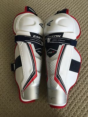 "Easton PRO 7  Ice/Roller Hockey Leg/Shin Pads 15"" new"