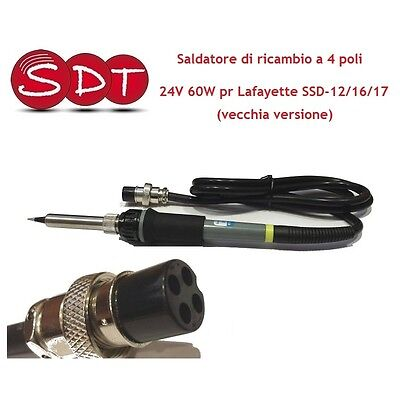 Spare Soldering Iron 4 Poles 24V 60W For Lafayette Ssd-12/16/17 (Old Vers
