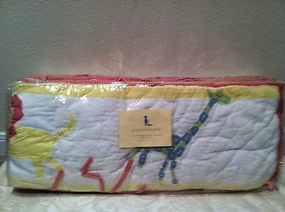 Pottery Barn Kids Velour Animals Quilted Cotton Litrie Matelassee Bumper