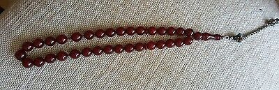 Cherry Amber Bakelite  Faturan Prayer Beads Ottoman Original Damarsiz