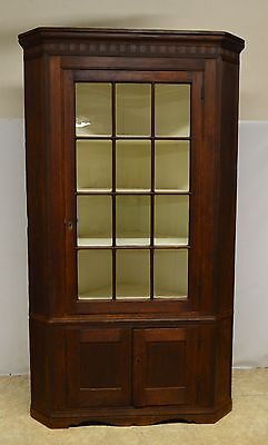 Antique Pine Primitive Corner Cabinet Cupboard