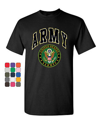 United States Army T-Shirt Army Crest Patriotic Tee Shirt