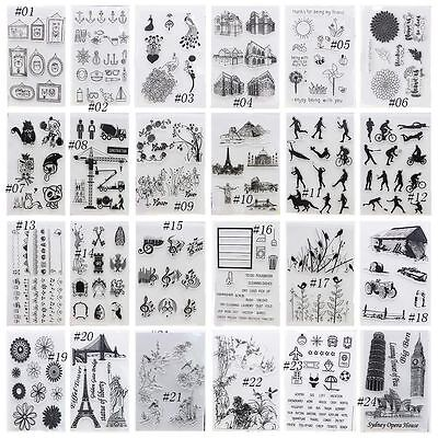 1PC DIY Crafts Clear Sheet Silicone Rubber Scrapbooking Transparent Stamps