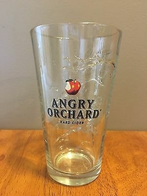 Angry Orchard Hard Cider Embossed Tree Pint Glass 16oz Brand New Unique