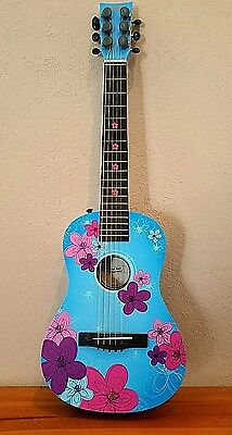 First Act Discovery Acoustic Guitar - Aloha, Hawaii, Flower Power Girl