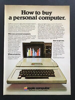 1978 Vintage Print Ad | Apple II | How To Buy A Personal Computer Steve Jobs