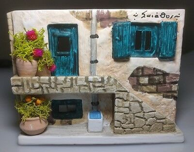 Greek Island Souvenir House With Candle from Skiathos FREE UK P&P OFFERS WELCOME
