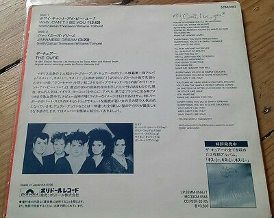 """THE CURE   Why can't i be You.  Rare Japanese Promo 7"""""""