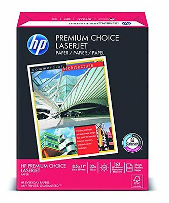 HPPremium ChoiceLaserJet Paper98 Bright32lb8-1/2x11White 500 Sheets/Ream New