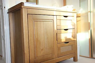 Solid Wooden Baby Changing Table with Cupboard Storage & X3 Drawers