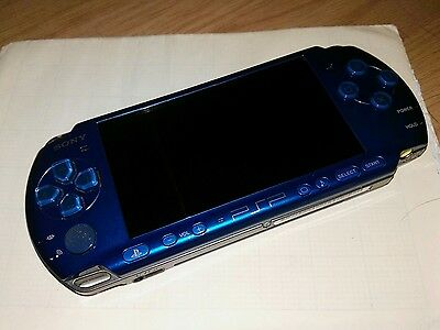 Sony PSP 3003 Vibrant Blue Handheld System 5 movies included