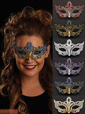 Ladies Masquerade Eye Mask Womens Venetian Ball Fancy Dress Costume Accessory