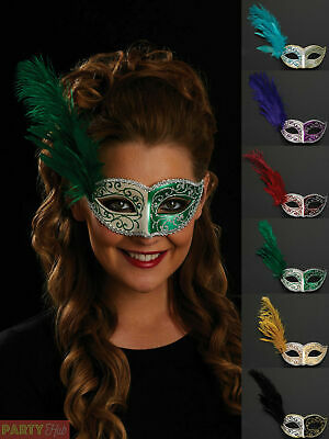 Ladies Venetian Masquerade Eye Mask Womens Ball Fancy Dress Costume Accessory