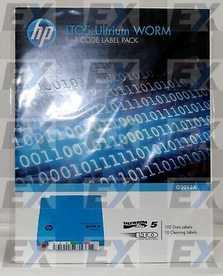 Q2012A - HPE LTO-5 Ultrium WORM Bar Code Label Pack Brand NEW