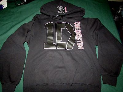 One Direction 1D Black Hoodie Size Small Pullover Sweatshirt