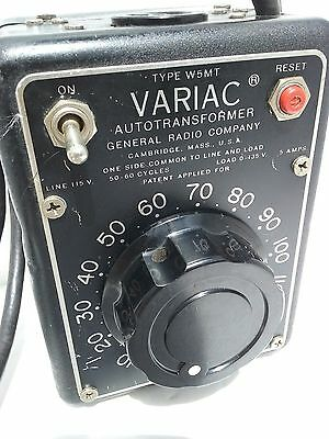 Vtg General Radio Co W5MT Variac Autotransformer 115V 50-60 Cycles