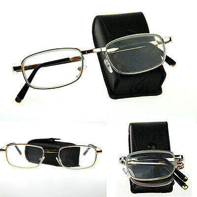 Optical Suit Glass Lens Portable Reading Glasses Folding +1.0 To +4.0 Eyeglasses