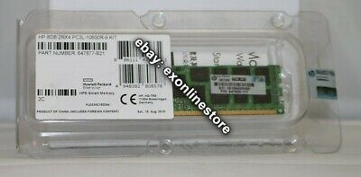 647877-B21 - 8GB (1x8GB) Dual Rank x4 PC3L-10600R Reg Memory Kit HP Enterprise