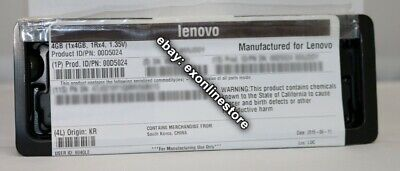 00D5024 -Lenovo Factory Sealed 4GB PC3L-12800 CL11 ECC DDR3 1600MHz LP RDIMM IBM