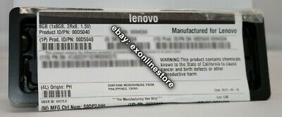 00D5040 - Lenovo Factory Sealed 8GB PC3-14900 CL13 ECC DDR3 1866MHz LP RDIMM IBM