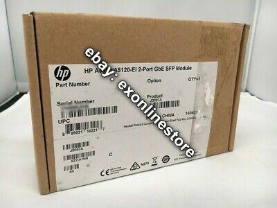 JD367A - HPE FlexNetwork 5500/4800 2-port GbE SFP Module Brand NEW Sealed