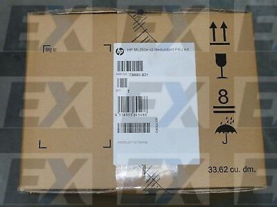 738661-B21 - HP ML350e v2 Redundant Power Supply HP Enterprise Brand NEW Sealed