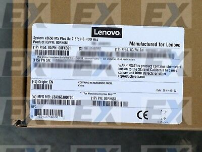 """00FK661 - System x3650 M5 Plus 8x 2.5"""" HS HDD Ass Kit with Exp Lenovo Brand NEW"""