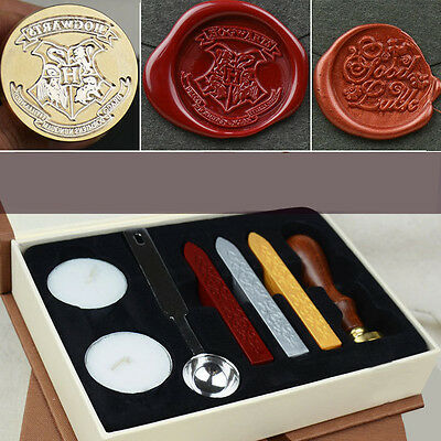 Personalized Harry Potter Hogwarts School Badge Wax Seal Stamp w/Wax Set Gifts