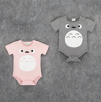 Japan Anime Cartoon Totoro Newborn Baby Costume Climb Clothes Short Sleeves Gift